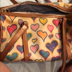 Dooney and Bourke bag with hearts.